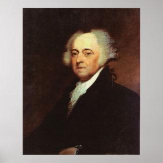 JOHN ADAMS Portrait by Asher B Durand Print