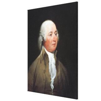 JOHN ADAMS Portrait by John Trumbull Print Stretched Canvas Print