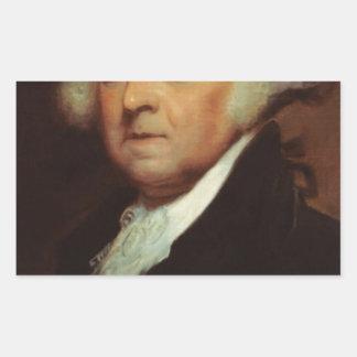 John Adams Rectangular Sticker
