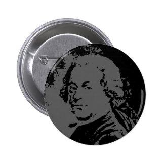 John Adams silhouette 6 Cm Round Badge