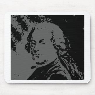 John Adams silhouette Mouse Pads
