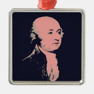 John Adams Silver-Colored Square Decoration