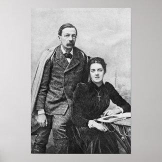 John Addington Symonds  and His Daughter, 1891 Poster