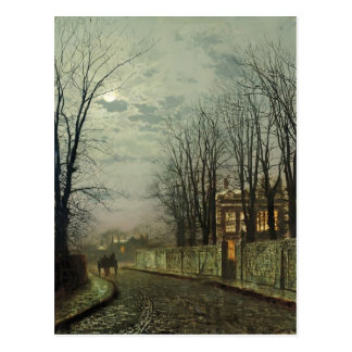 John Atkinson Grimshaw- A Wintry Moon Postcard