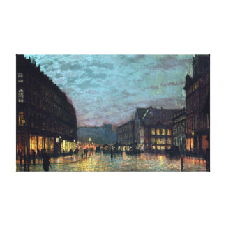 John Atkinson Grimshaw Boar Lane Leeds Lamplight Canvas Print