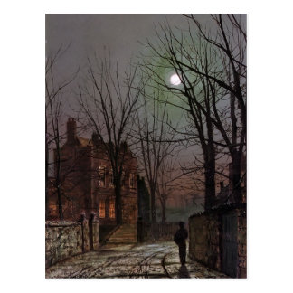 John Atkinson Grimshaw- Moonlight Postcard
