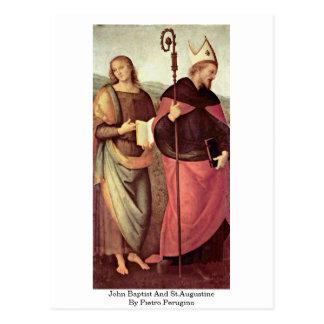 John Baptist And St.Augustine By Pietro Perugino Postcard
