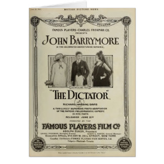 John Barrymore 1915 silent movie exhibitor ad Card
