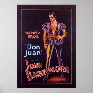 "John Barrymore ""Don Juan"" 1926 Poster"