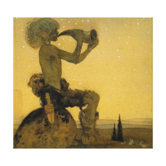 John Bauer He Blew Upon the Horn Canvas Print