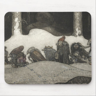 John Bauer - In the Christmas Night Mouse Pad