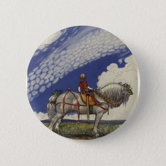 """John Bauer - """"Into the Wide World"""" 6 Cm Round Badge"""
