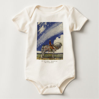 John Bauer - Into the Wide World Baby Bodysuit