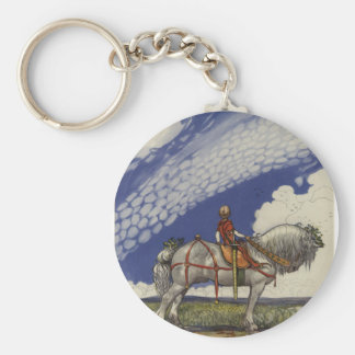 John Bauer - Into the Wide World Basic Round Button Key Ring