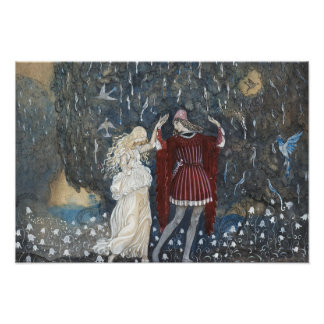 John Bauer - Lena Dances with the Knight Photo Print