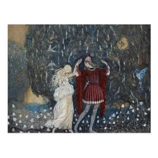 John Bauer - Lena Dances with the Knight Postcard