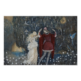 John Bauer - Lena Dances with the Knight Poster