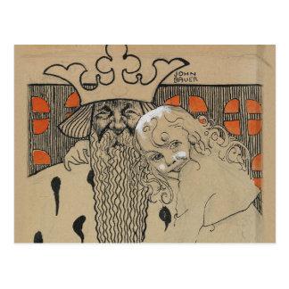 John Bauer, Linda Gull och den gamle, 1905 Postcard