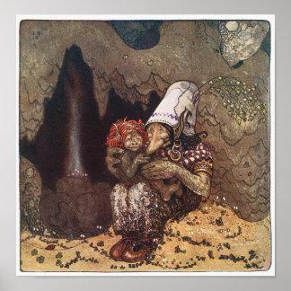 John Bauer - Mother Love - Troll Poster