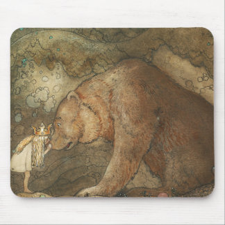 John Bauer - Poor Little Basse Mouse Pad