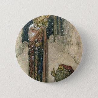 John Bauer - Princess and Troll 6 Cm Round Badge