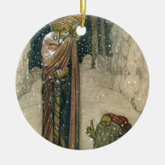 John Bauer - Princess and Troll Ceramic Ornament