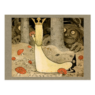 John Bauer Princess Daga and the troll CC0807 Postcard