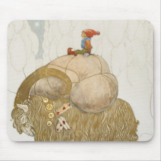 John Bauer - The Christmas Goat Mouse Pad