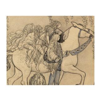 John Bauer - The Horse He Led at the Bit Wood Print