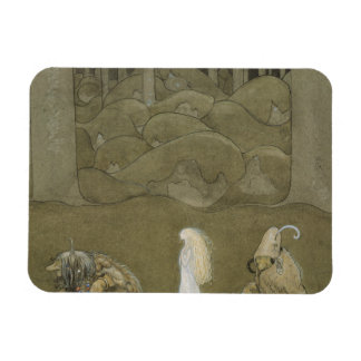 John Bauer - The Princess and the Trolls Magnet