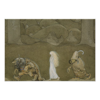 John Bauer - The Princess and the Trolls Poster