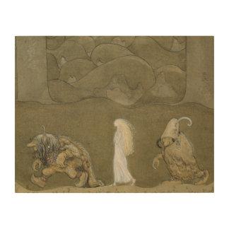 John Bauer - The Princess and the Trolls Wood Print