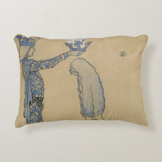 John Bauer - Then Put the Prince a Crown of Gold Decorative Cushion