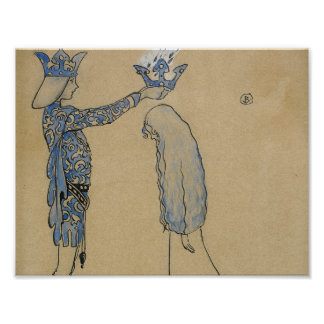 John Bauer - Then Put the Prince a Crown of Gold Poster
