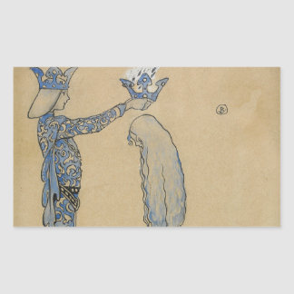 John Bauer - Then Put the Prince a Crown of Gold Rectangular Sticker