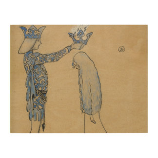 John Bauer - Then Put the Prince a Crown of Gold Wood Print