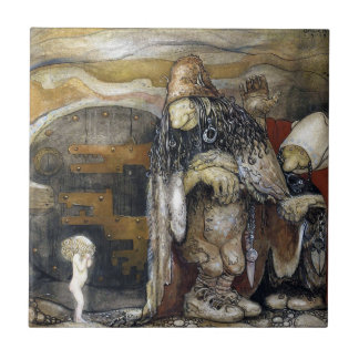 John Bauer Troll Small Square Tile