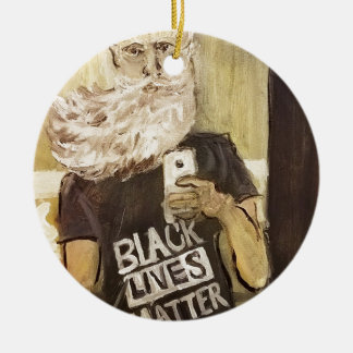 John Brown Selfie/Black Lives Matter Ceramic Ornament