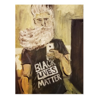 John Brown Selfie/Black Lives Matter Postcard