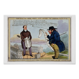 John Bull and the Architect Wot Builds the Arches Poster