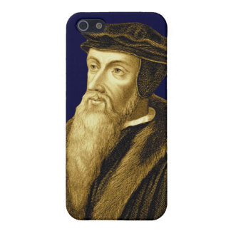 John Calvin iPhone4 Case in Reformation Royal Blue iPhone 5/5S Covers