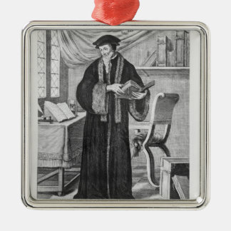 John Calvin Metal Ornament
