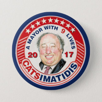 John Catsimatidis for NYC Mayor 2017 7.5 Cm Round Badge