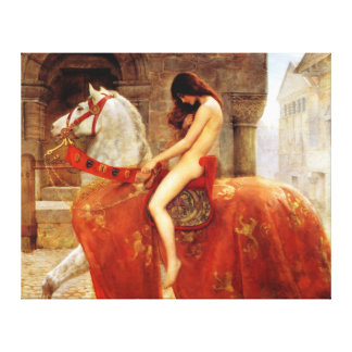 John Collier Lady Godiva Fine Art Canvas Print