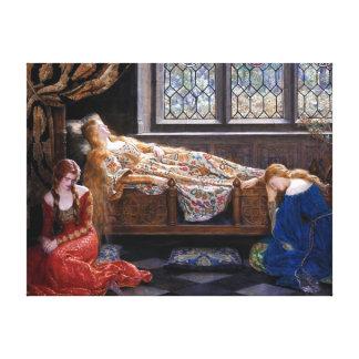 John Collier The Sleeping Beauty Canvas Print