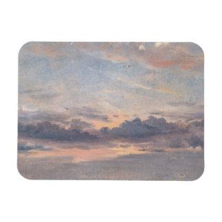 John Constable - A Cloud Study, Sunset Rectangular Photo Magnet