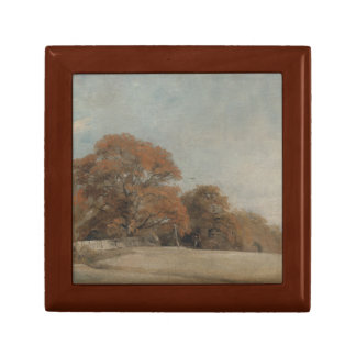 John Constable - An Autumnal Landscape Small Square Gift Box