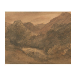John Constable - Borrowdale- Evening after a Fine Wood Canvas