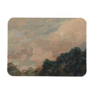 John Constable - Cloud Study with Trees Rectangular Photo Magnet