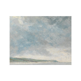 John Constable - Coastal Scene with Cliffs Gallery Wrapped Canvas